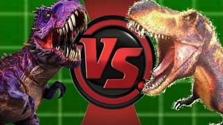 Omega09 Vs Black T-rex (Jurassic World Vs Dinosaur King) Animation Battles 24!