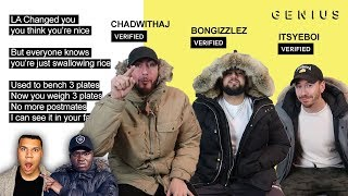 Garden Hose Nose Official Lyrics & Meaning (Wolfieraps Diss track Team ALBOE Big Shaq and Chunkz)