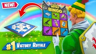 Rainbow BINGO Battle In Fortnite! (Challenge)