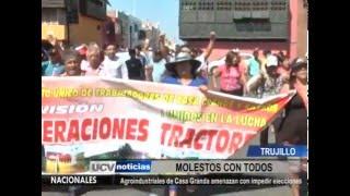 TRABAJADORES DE CASA GRANDE AMENAZAN CON IMPEDIR ELECCIONES DEL 10 DE ABRIL