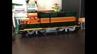 LEGO Train Set #10133 BNSF GP38 Locomotive Rebuilt and Customized!