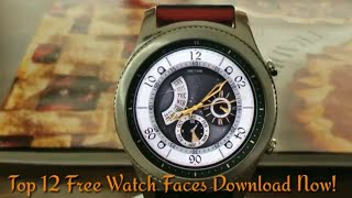 Top 12 Free Gear S3/Gear Sport Watch Faces *Hurry Download Now!*
