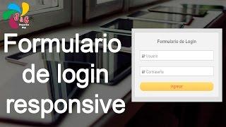 Diseñando un Formulario de Login responsive- HTML y CSS