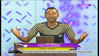 Youthful Pastor Jimmy Glory with a powerful preaching on KTN's Tukuza Show