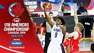 USA v Panama - Group Phase - Re-Live (ENG) - FIBA U18 Americas Championship 2018