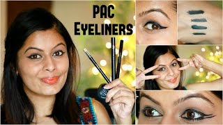 All about Liners | PAC Eyeliners Review & Demo | Kavya