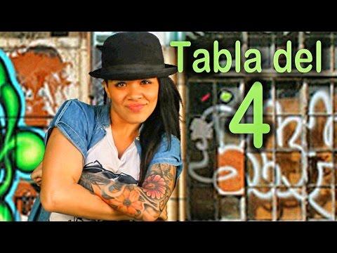Canción de la tabla del 4 Las Tablas de Multiplicar al Estilo Urbano Videos Educativos