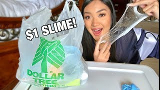 DOLLAR TREE SLIME CHALLENGE!