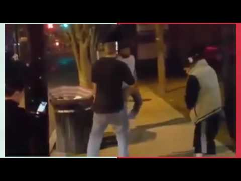 mma fighter defends himself and knocks out a man