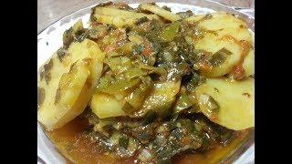 Aloo aur hare pyaz ki sabzi recipe by hamida dehlvi