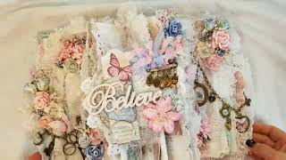 Shabby Chic Altered Book Using Stamperia Paper for Craft Fantastic