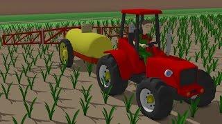 ☻ Farm work - The tractor is spraying the field | Bajki Traktor - Wiosna w Polu Opryski ☻