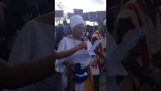 Libation before  the March  begins - Tambourine Army