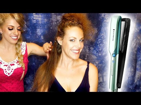 ASMR Hair Salon Styling w/ Hair Brushing & Straightening Soft Spoken Binaural Ear to Ear