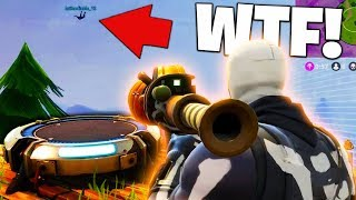 LAUNCH PAD TO PUMPKIN LAUNCHER RIDE! (Fortnite Funny Moments!)