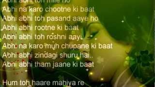 Abhi Abhi JISM2 Full HD Song Lyrics