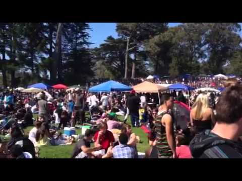 In hippie hill for happy 420 San Francisco 2013