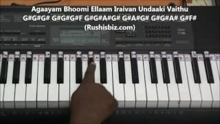 Anjali Anjali Anjali Title Song (Tamil) - Piano Tutorials