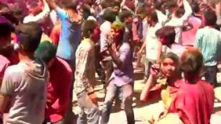 holi celebration mandi himachal