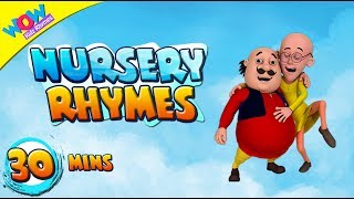 Finger Family with Motu Patlu| Popular Nursery Rhymes Collection for Children- 30 Minutes of rhymes