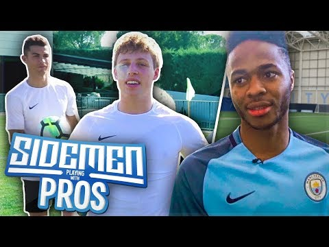 SIDEMEN PLAYING WITH PRO FOOTBALLERS