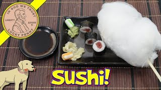 How To Make Wasabi & Ginger Cotton Candy On A Sushi Stick