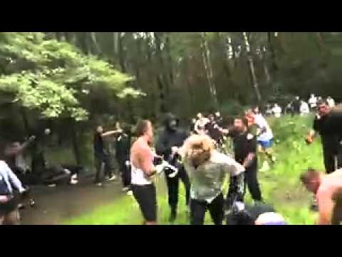 Hooligans Fight 7 vs 7 One Girl Fight