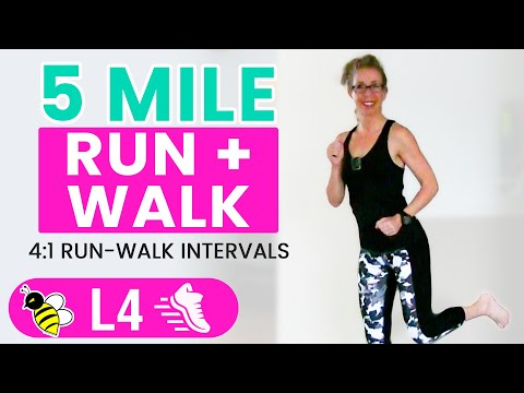 5 MILE Indoor RUN WALK One Hour 500 Calories RUNNING WALKING Workout with Pahla B