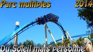 Deanrell au Parc Astérix et à Disneyland : Du Soleil, des parcs mais personne !