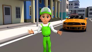 Cartoon for children. Escape and police chase. Handy Andy cartoon for children - Kids story