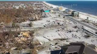 Toucan's Restaurant and areas destroyed by Hurricane Michael - Mexico Beach, FL - 10/16/2018