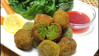 Spinach & ChickPea Nuggets or Patties - Garbanzo Bean Recipe by Bhavna