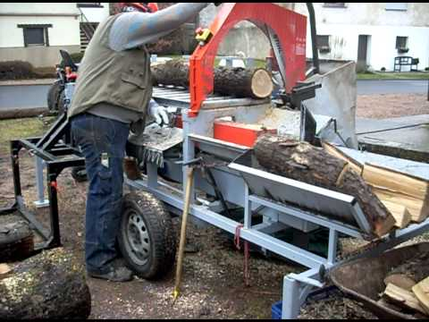 Eigenbau Sägespalter mit 4 fach Spaltkreuz homemade firewood splitter selfmade wood splitter