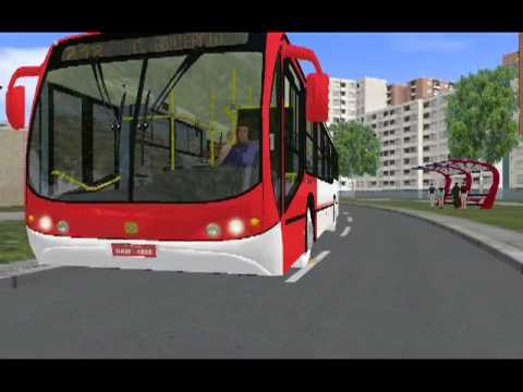 Busscar Urbanuss Pluss no OMSI Mapa Savoy linha 712
