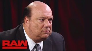 Paul Heyman makes a jaw-dropping Brock Lesnar announcement: Raw, Nov. 28, 2016
