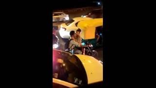 Delhi Couple kissing ' Hot Scene In Public Road At Drive Bike     OMG In Delhi