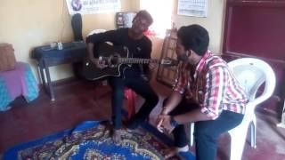 AVAL | MANITHAN SONG| |COVER||Krishna Prasad (vocal) and Libenson(guitar)