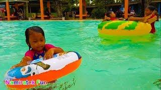 balita belajar berenang di Kolam Renang Anak | Fun Kids Learn Swimming Underwater in Swimming Pool