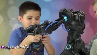 Walking ROBOT! Robos Apien Remote Control Robot!  HobbyKidsTV