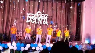 Bangla funny stage dance by M-48 (doyal baba,  maar dala, baby DOLL)