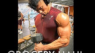 INSANE SHOULDER & CHEST WORKOUT | MINI GROCERY HAUL | 20 DAYS OUT