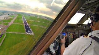 Captain's view Breakoff landing Amsterdam - Boeing 747-400