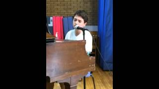 13 year old wows crowd at Junior HS Talent show singing Sam Smith - Lay me Down