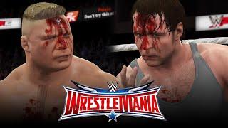 Brock Lesnar vs Dean Ambrose - Wrestlemania 32 [Street Fight]