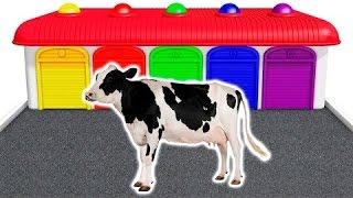 Aprender los colores con Vaca y animales domesticos en español para niños   Animacion   3D