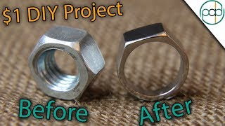 Making a Hex Nut Ring Using BASIC Tools ( DIY )