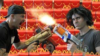 NERF GUNS vs McDONALDS!
