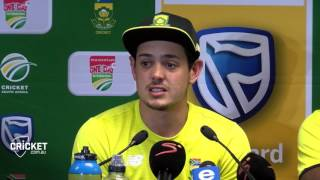 It was just my day, I guess: De Kock