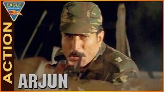 Arjun Movie || Army Attack on Mukesh Rishi House Action || Balakrishna,Laya || Eagle Hindi Movies