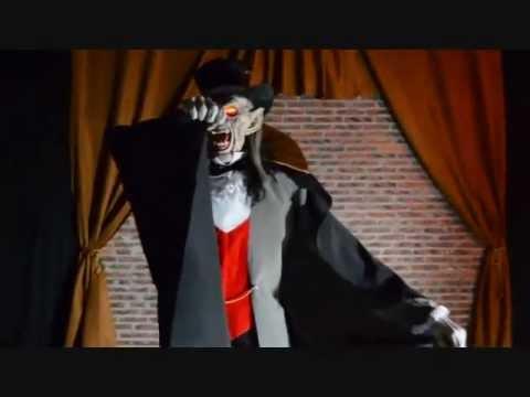 Life Size Animated Count Von Mortis Vampire Dracula LifeSize Talking Halloween Prop Decoration